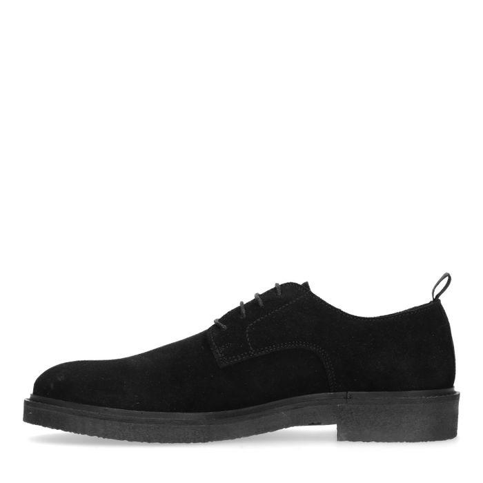 Chaussures à lacets en daim - noir