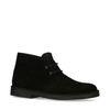 Boots à lacets en daim - noir