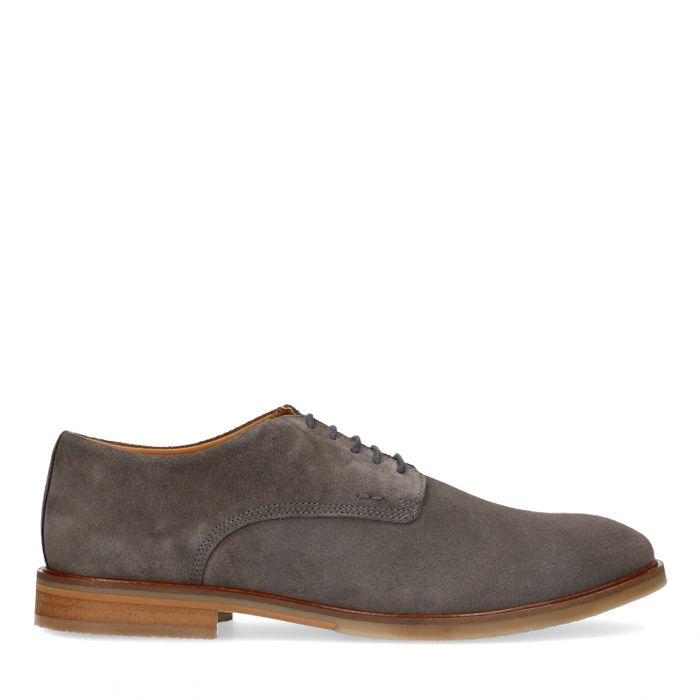 Chaussures à lacets en daim - taupe
