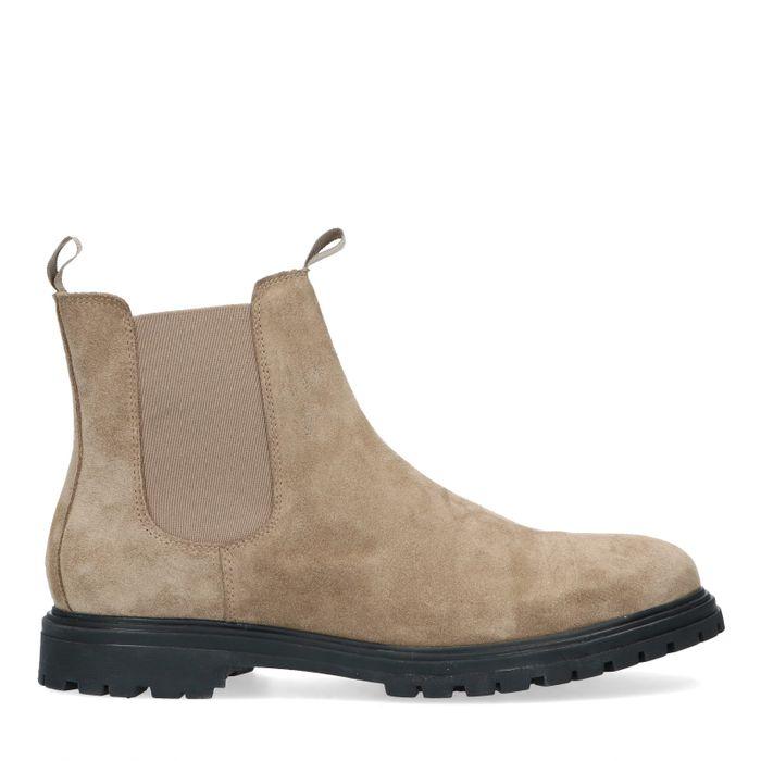 Chelsea boots en daim - taupe