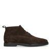 Boots à lacets en daim - marron