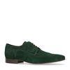 Chaussures à lacets en daim avec petit motif - vert