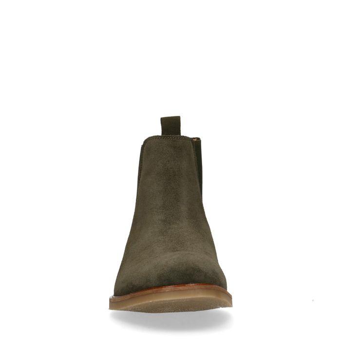 Chelsea boots en daim - vert