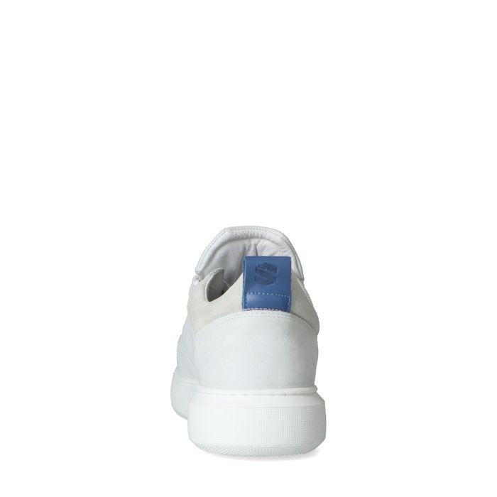 Baskets en nubuck avec détail - blanc
