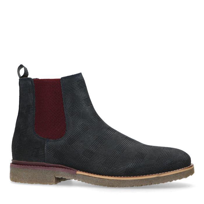 Chelsea boots en nubuck - bleu foncé