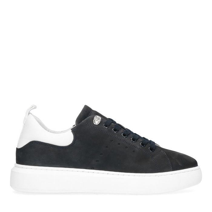 Baskets en nubuck - bleu