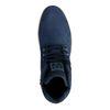 Boots à lacets en nubuck - bleu foncé