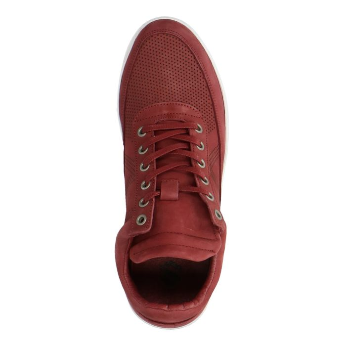 Baskets nubuck montantes - bordeaux