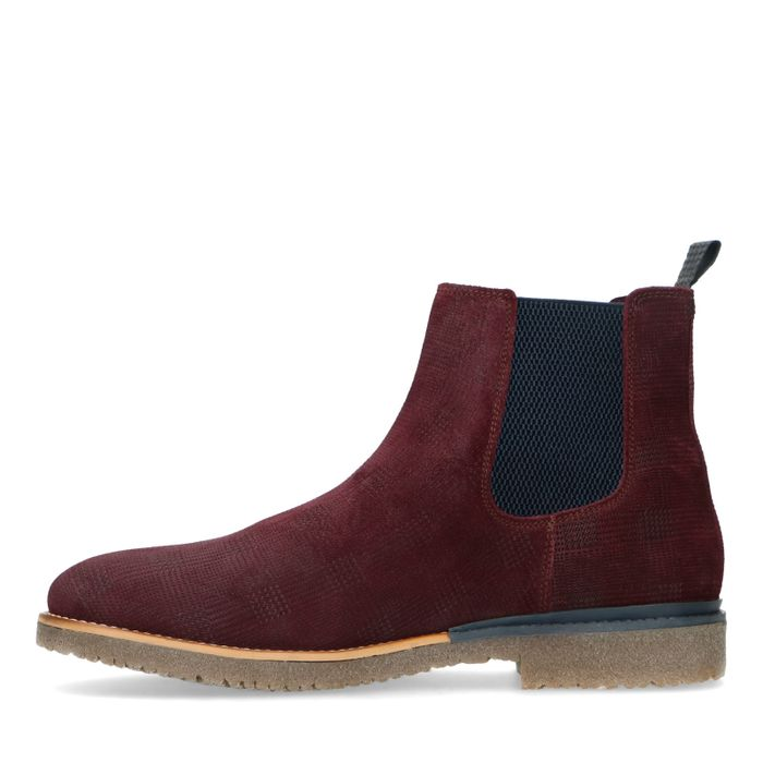 Chelsea boots en nubuck - bordeaux