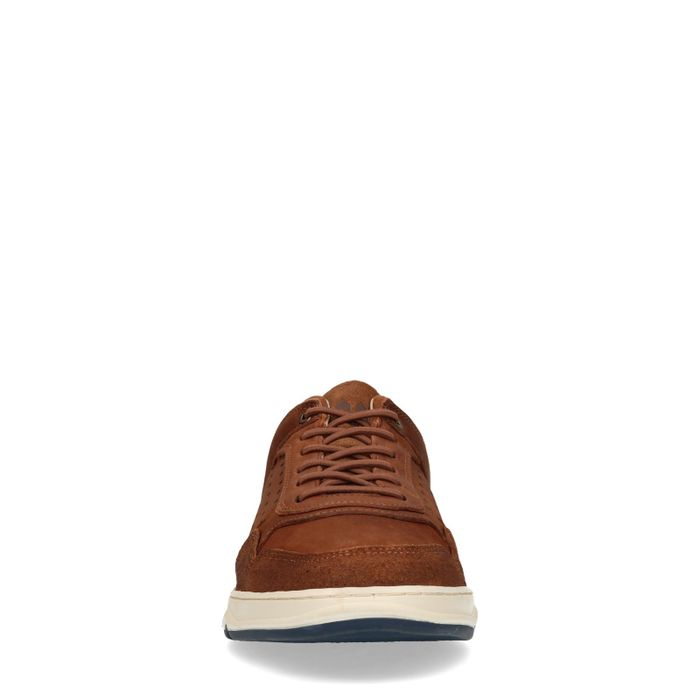 Baskets basses en nubuck - marron