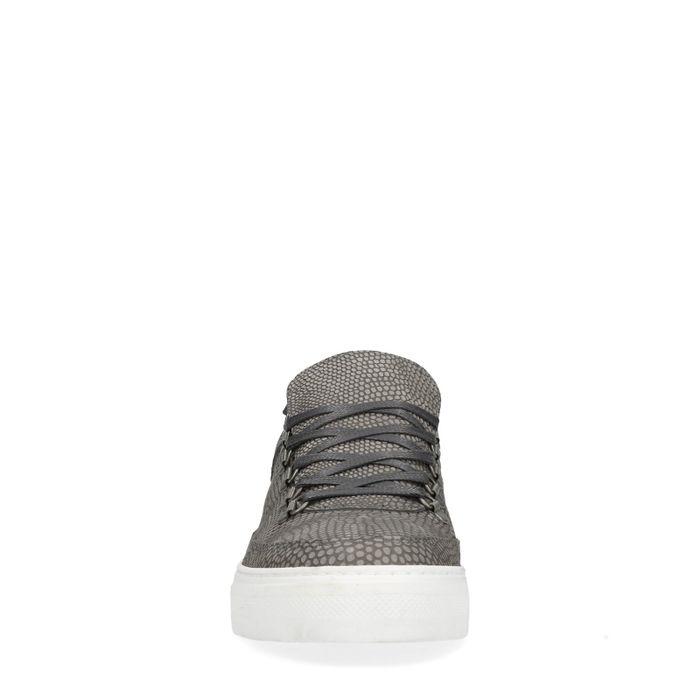 Baskets basses avec motif peau de serpent - gris
