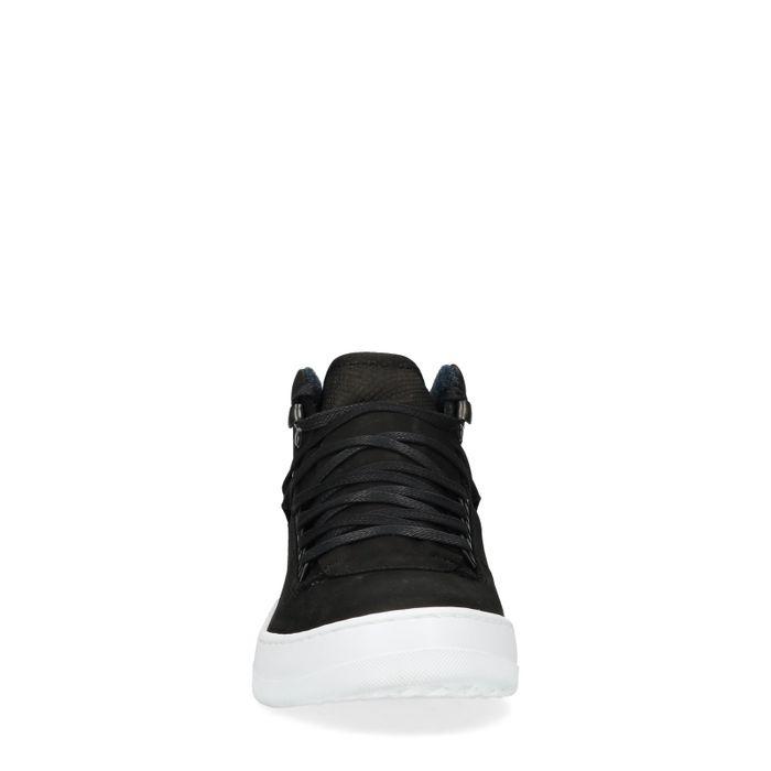 Baskets montantes en nubuck - noir