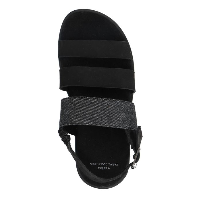 Sandales en nubuck - noir