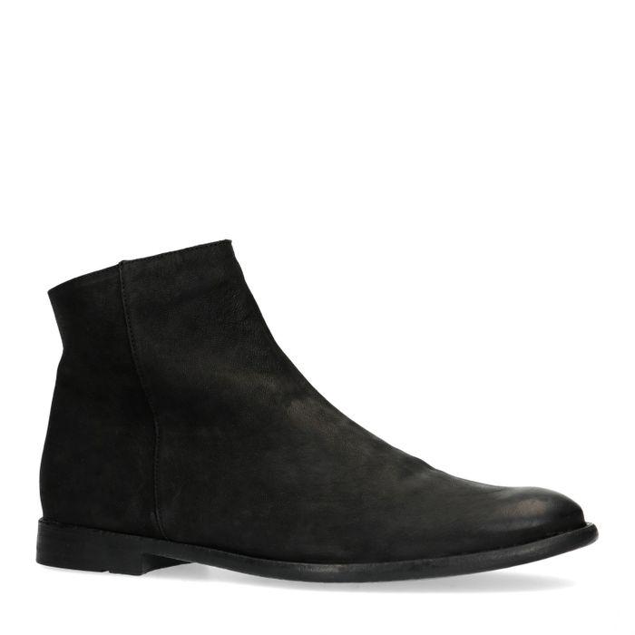 Boots basses en nubuck - noir