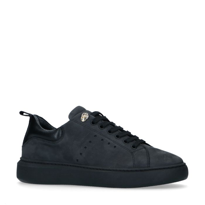Baskets en nubuck - noir