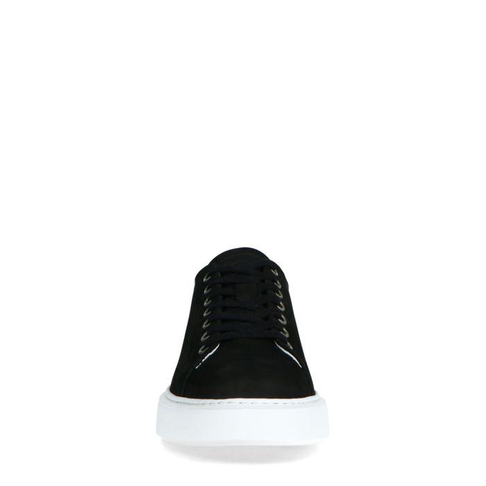 Baskets en nubuck avec détail - noir