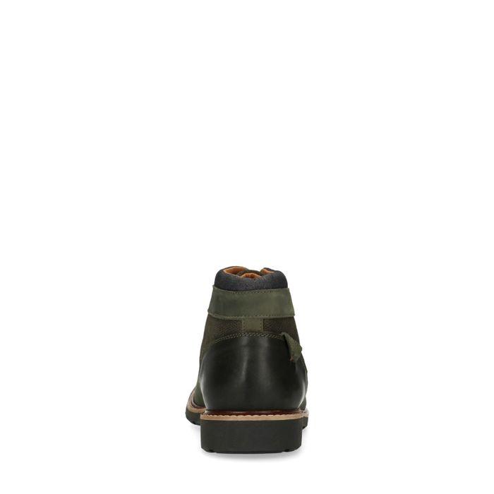 Boots à lacets en nubuck - vert