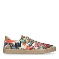 1ffbe5d1f35 Chaussures à lacets textile avec imprimé fleuri 73