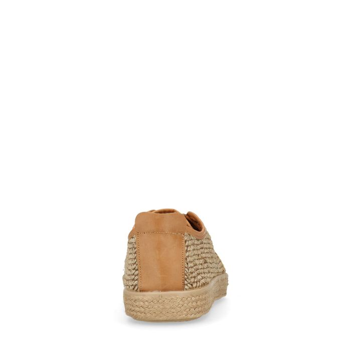 Chaussures à lacets en corde - beige