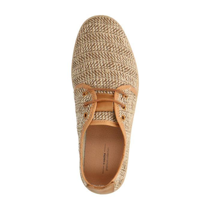 Chaussures à lacets en corde