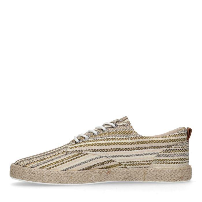 Chaussures à lacets rayées