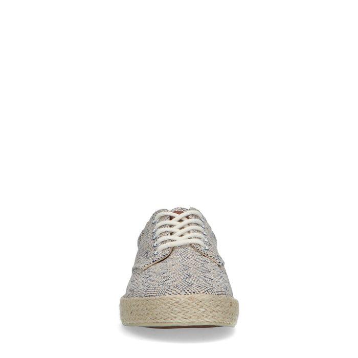 Baskets en toile avec imprimé - beige