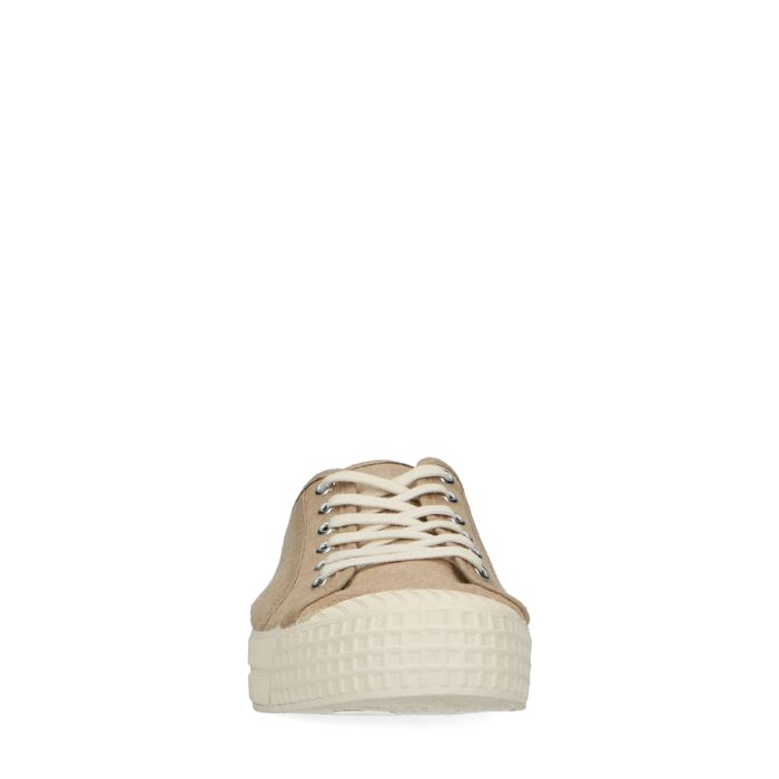 Baskets en toile - beige