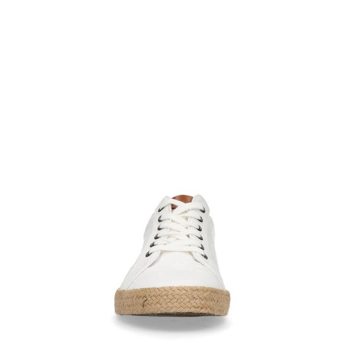 Chaussures à lacets en toile - blanc