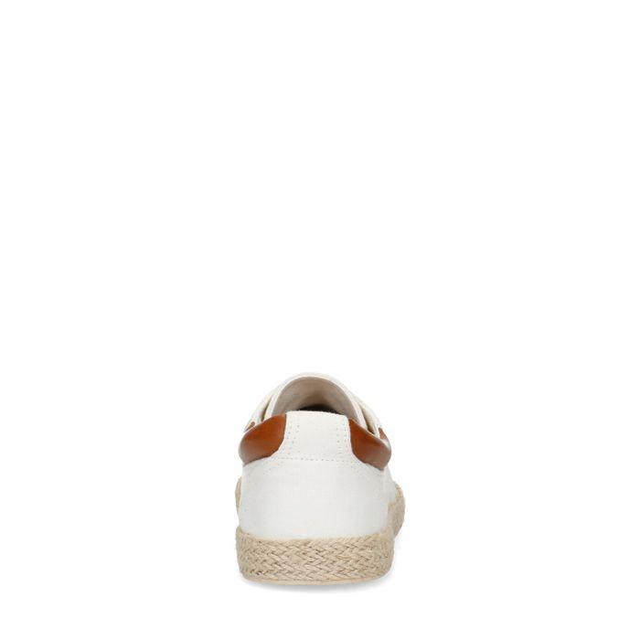 Baskets en textile - blanc