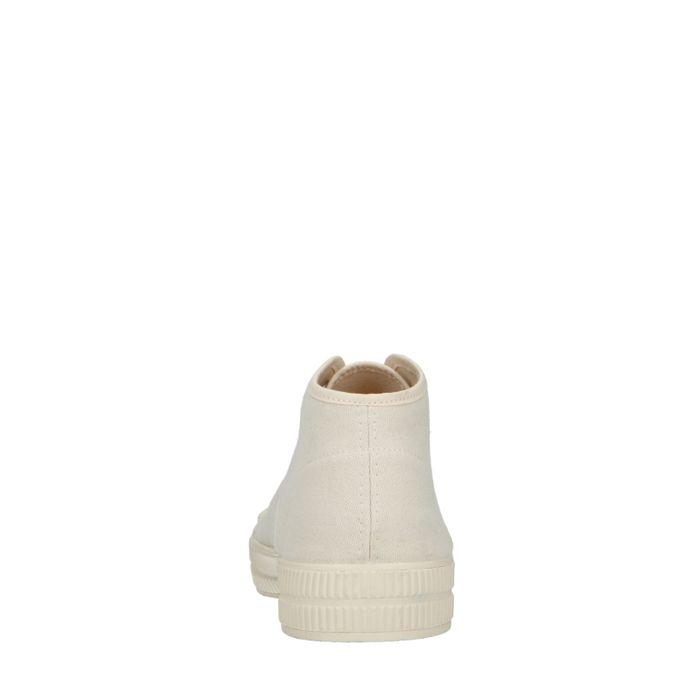 Baskets montantes en toile - blanc cassé