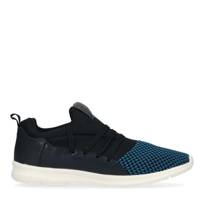 Baskets textile basses - bleu foncé