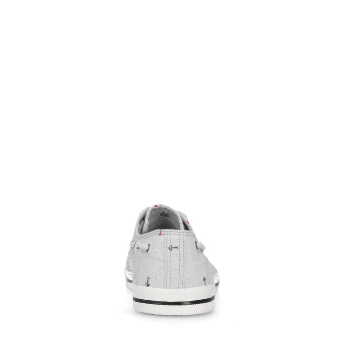 Baskets basses en toile avec imprimé - gris