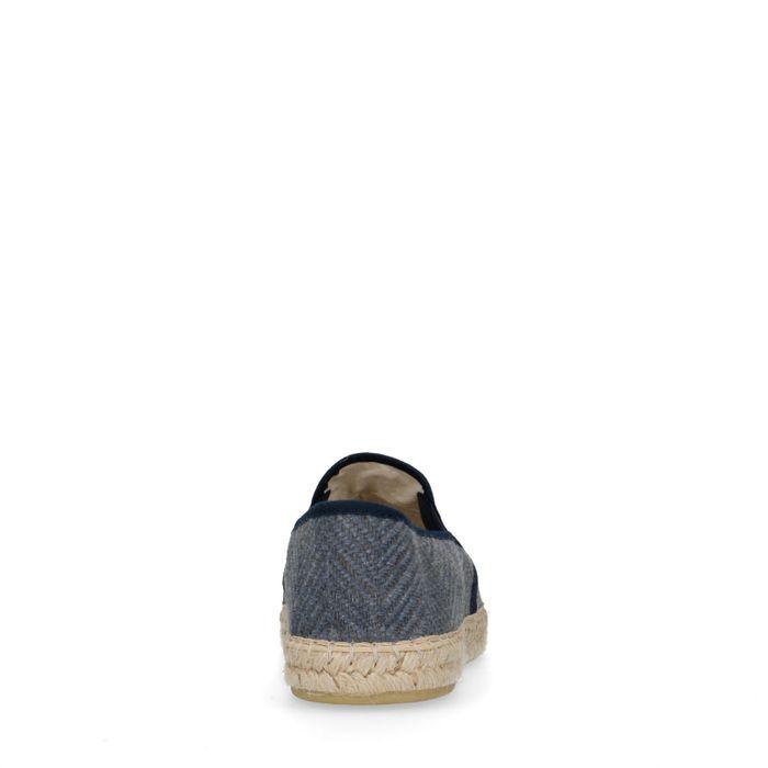 Slip-on textile - bleu