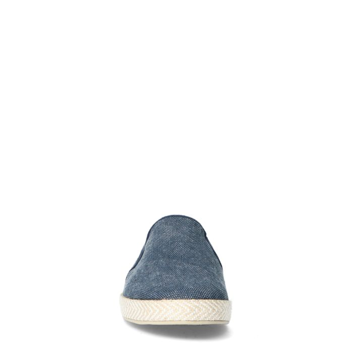 Mocassins en toile avec semelle en corde tressée - bleu