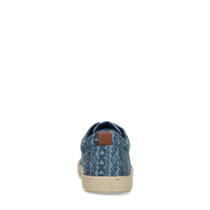 Baskets en toile avec imprimé - bleu