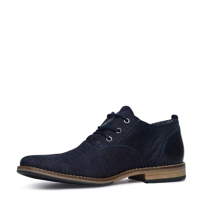 Chaussures à lacets en textile - bleu