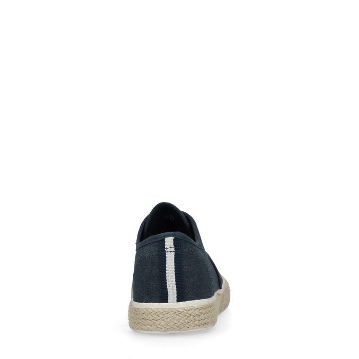 Chaussures à lacets avec semelle en corde - bleu