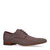Chaussures à lacets textile avec imprimé carreaux - bordeaux