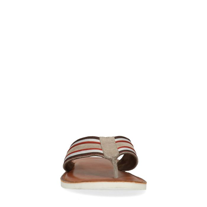 Tongs avec rayures - marron
