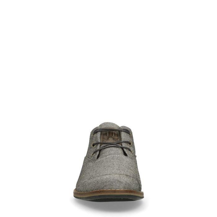Chaussures à lacets en textile - gris