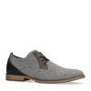 Chaussures à lacets textile basses décontractées - gris
