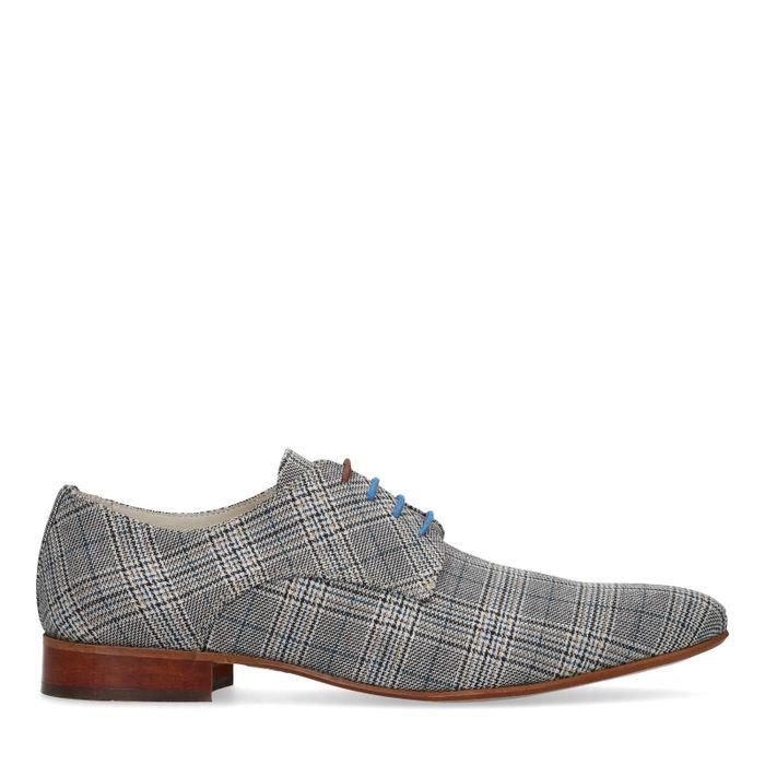 Chaussures à lacets textile avec motif - gris