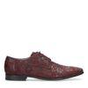 Chaussures à lacets en cuir avec imprimé fleuri - bordeaux