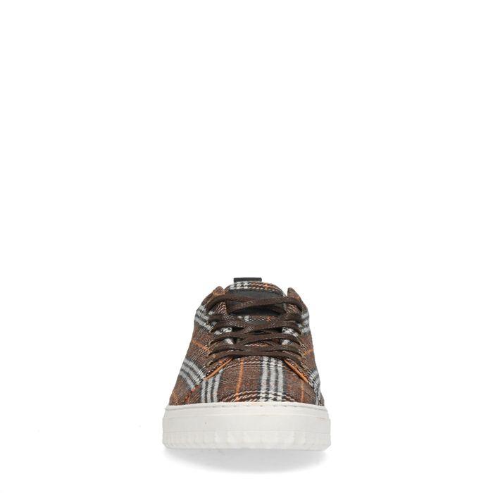Baskets basses en textile avec imprimé carreaux