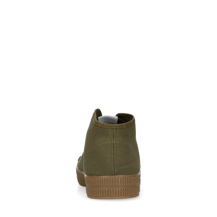 Baskets montantes en textile - vert foncé