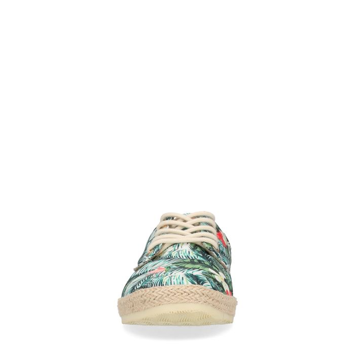 Baskets textile basses avec imprimé fleuri