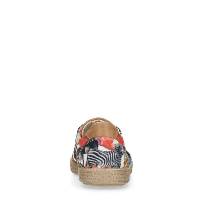Chaussures à lacets textile avec imprimé fleuri
