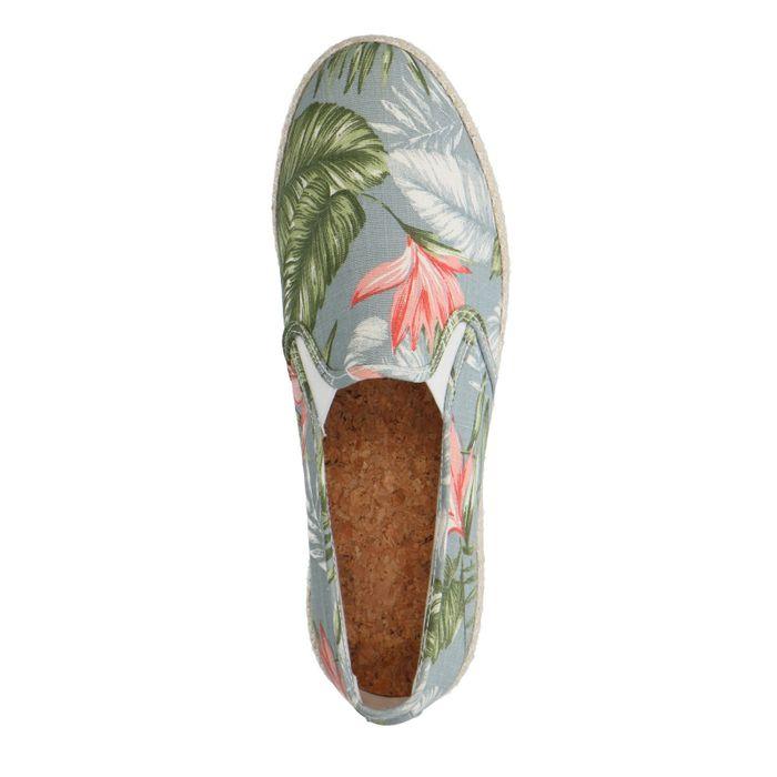 Mocassins textile avec imprimé tropical