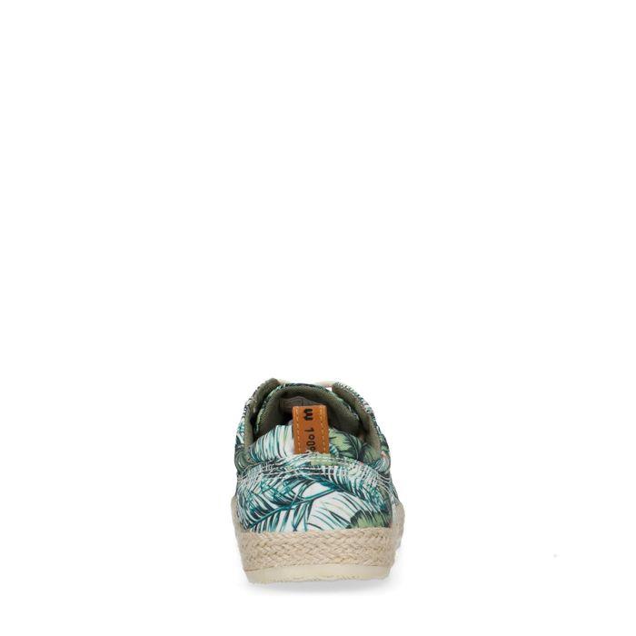 Chaussures à lacets en textile avec imprimé tropical
