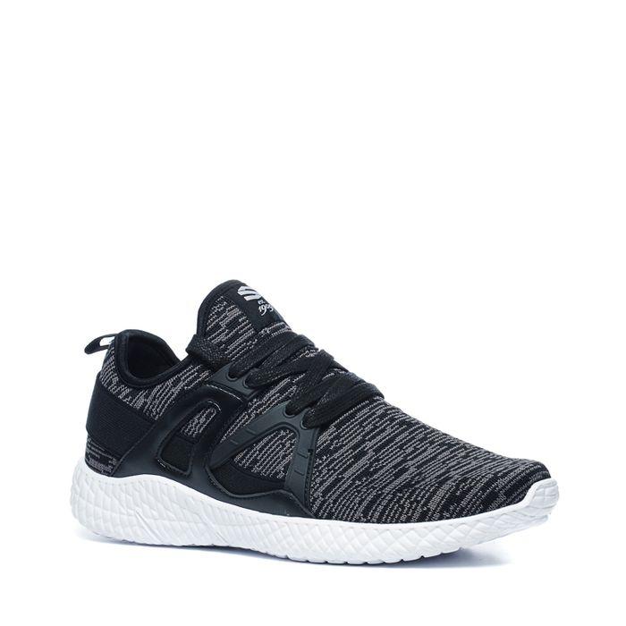 Baskets textile basses - noir